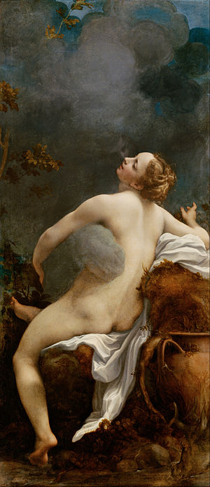 Antonio da Correggio - Jupiter and Io (c. 1531) typifies the unabashed eroticism, radiance, and cool, pearly colors associated with Correggio's best work.