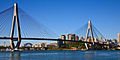 Anzac Bridge and Sydney harbour Bridge from Glebe Point.jpg