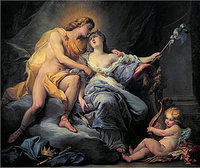 Apollo Caressing the Nymph Leucothea