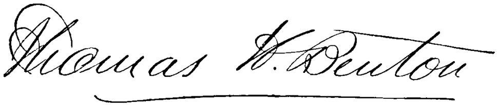Thomas Hart Benton (politician)'s signature