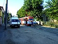 Arad, ulice Muclus Scaevola, tramvaj T3.jpg