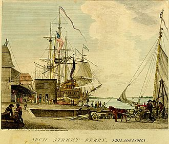 1793 Philadelphia yellow fever epidemic - The Arch Street wharf, where the first cluster of cases was identified