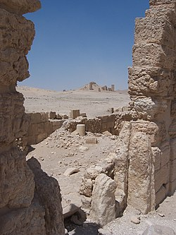 Archaeological Ruins at Palmyra, Syria..jpg
