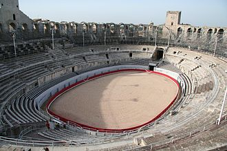 Arles Amphitheatre - Interior with arena