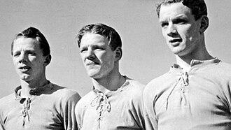 Sven Hjertsson - The Hjertsson brothers 1944. From left Arne, Kjell and Sven.