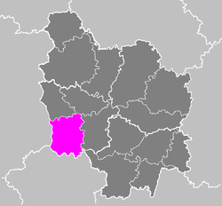 Location of Nevers in Bourgogne