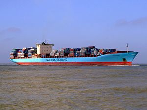 Arthur Maersk pic03 approaching Port of Rotterdam, Holland 08-Mar-2007.jpg