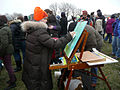 Artist at easel near Washington Monument Inauguration 2013.jpg