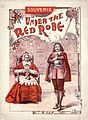 "Artist unknown -Souvenir (of the play) ""Under the red robe"". (Cover. Melbourne, 1898) (5016181842).jpg"