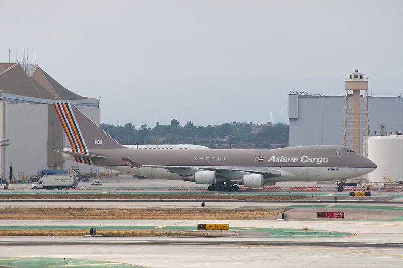 아시아나항공 소속 991편 화물기(B747)