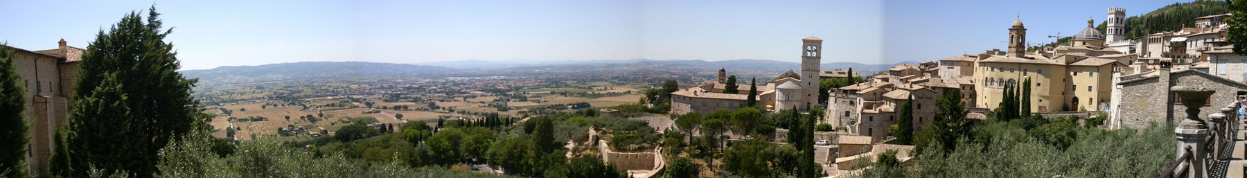 Assisi banner Panorama from Santa Chiara square.jpg