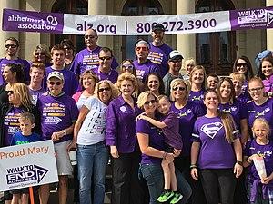 Alzheimer's Association - Photo from Walk to End Alzheimer's in Lansing, Michigan.