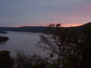 Uruguay River - Sunset in the Uruguay River, from Misiones, Argentina