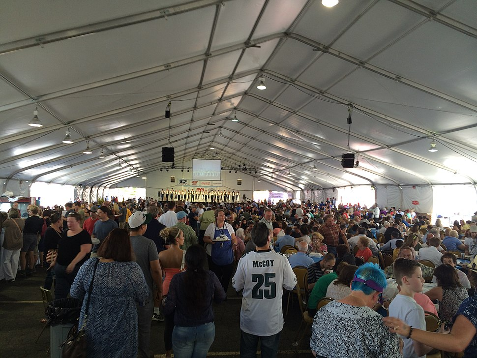 Attendees at the 2014 Greek Festival in Salt Lake City, Utah