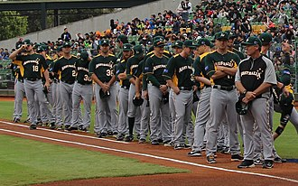 Australia national baseball team - Image: Australia national baseball team on March 2, 2013