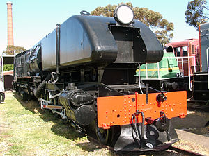 Australian Standard Garratt Nr. 33 im Museum der Australian Railway Historical Society in North Williamstown, Victoria.