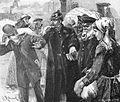 Auswandererbahnhof Ruhleben - Verhaftung eines falschen Agenten, Zehme 1895.jpg