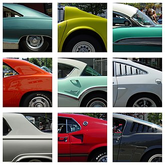 Pillar (car) - Image: Automotive C pillar typology