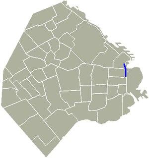Avenida Leandro N. Alem - Location of Avenida Leandro N. Alem in Buenos Aires.