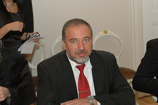 Avigdor Lieberman in Latvia