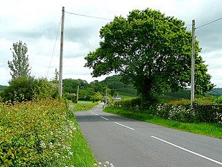 B4347 road road in England