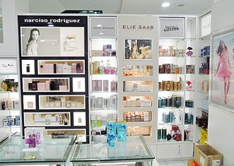 Shiseido - BPI brands at Westfield Queensgate branch of New Zealand department store chain Farmers