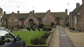 Bourne United Charities - Image: BUC almshouses, West street the quadrangle Geograph 2296268 by Bob Harvey