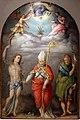 Bachiacca, annunciazione con dio padre e i ss. sebastiano, nicola e rocco, 1540-57 ca. 01.jpg