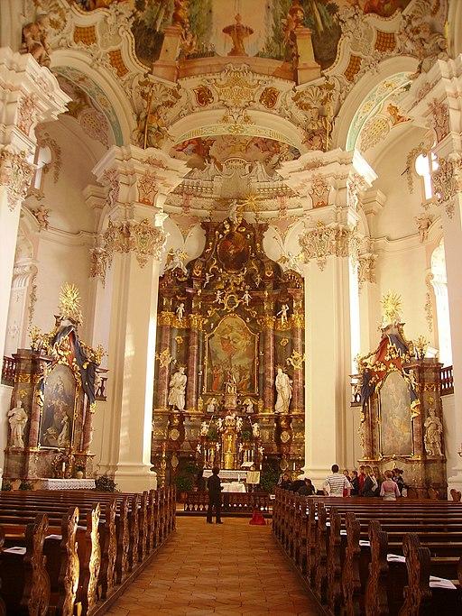 Bad Schussenried Wallfahrtskirche Steinhausen Innen Hochaltar 1