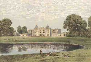 Capability Brown - Badminton House: features of the Brownian landscape at full maturity in the 19th century