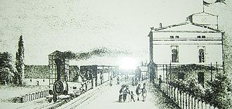Berlin–Wrocław railway - Fürstenwalde station about 1845