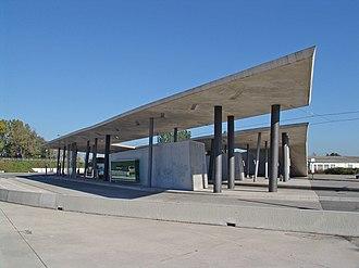 Hœnheim - Hoenheim tram terminus by star architect Zaha Hadid
