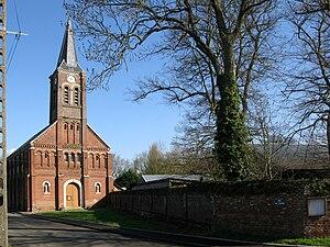 Baizieux - Image: Baizieux église 1