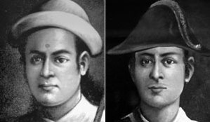 Ujir Singh Thapa - Facial similarity between two young military cousins; Captain Balbhadra Kunwar and Colonel Ujir Simha Thapa