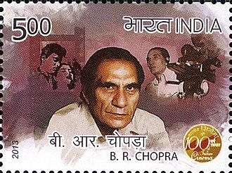 Baldev Raj Chopra - Chopra on a 2013 stamp of India
