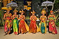 Balinese Hindus dressed for traditional dance Indonesia.jpg