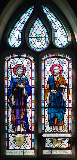 Ballylooby Church of Our Lady and St. Kieran Nave South Window 03 SS. Phillip and James the Lesser 2012 09 08