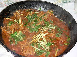 Balti (food) - A lamb version of balti gosht