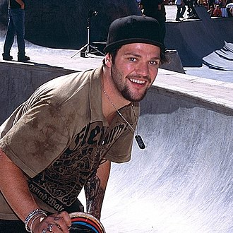 Bam Margera - Bam Margera skateboarding in 2006.