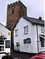 Bampton, Devon, entrance to churchyard - geograph.org.uk - 673327.jpg