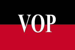 Communist symbolism - Image: Bandera de la VOP