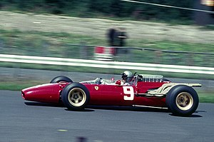 1966 German Grand Prix - Lorenzo Bandini in his Ferrari on his way to sixth place.