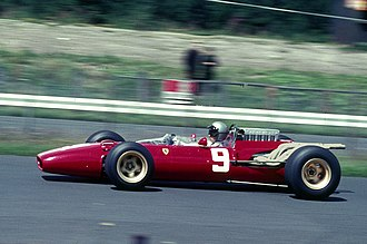 Scuderia Ferrari - Lorenzo Bandini driving for Ferrari at the 1966 German Grand Prix.