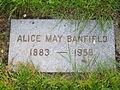 Banfield, Alice May, Lone Fir Cemetery, May 2012.JPG