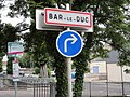Bar-le-Duc (Meuse) city limit sign.jpg