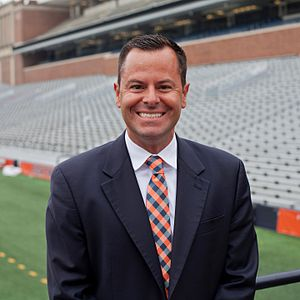 Marching Illini - Professor Barry L. Houser, director of the Marching Illini