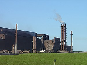 Scunthorpe Steelworks - Basic oxygen and continuous casting building (2006)