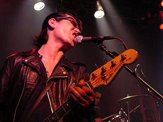Guitar Wolf - Billy (Bass Wolf) performing at Exit/In during the final leg of Guitar Wolf's 2005 U.S. tour