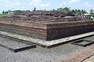 Batujaya - Jiwa Temple in Batujaya archeological complex.