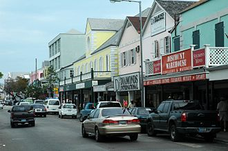 Nassau, Bahamas - A view of Bay Street